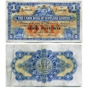Шотландия The Union Bank of Scotland 1 фунт 1940 года