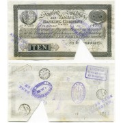 Stamford, Spalding and Boston banking company. 10 фунтов 1906 года