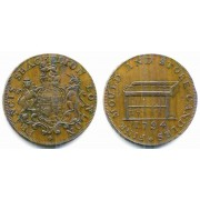 1794 Middlesex Shackelton Fine Mould And Store Candles Halfpenny Conder Token